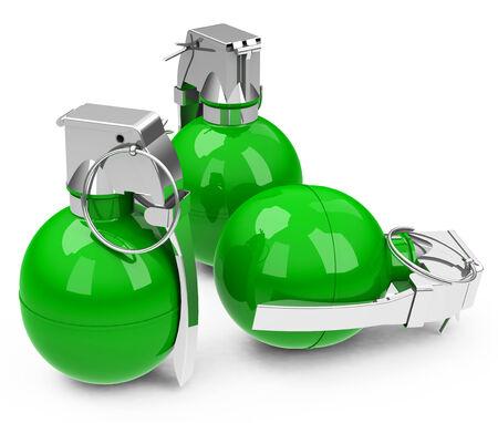 the green granades Stock Photo