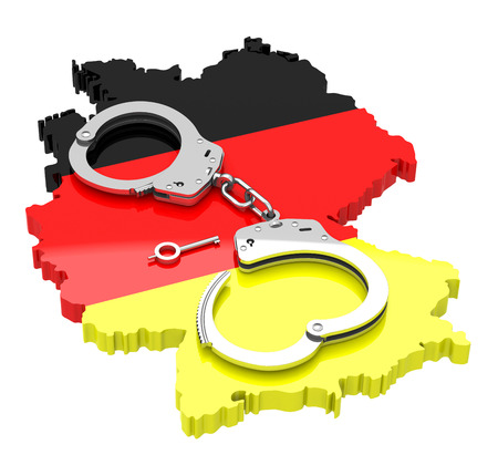 handcuffs on germany photo
