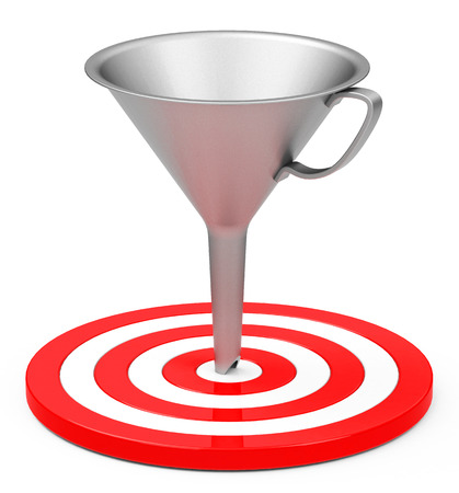 target with funnel Stock Photo