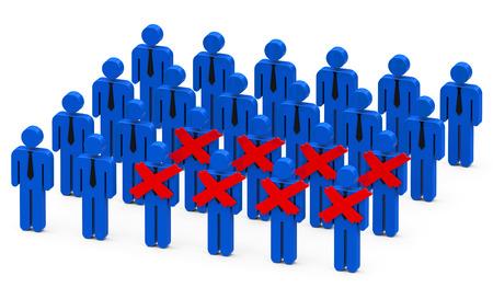 dismiss: fired businessmen Stock Photo
