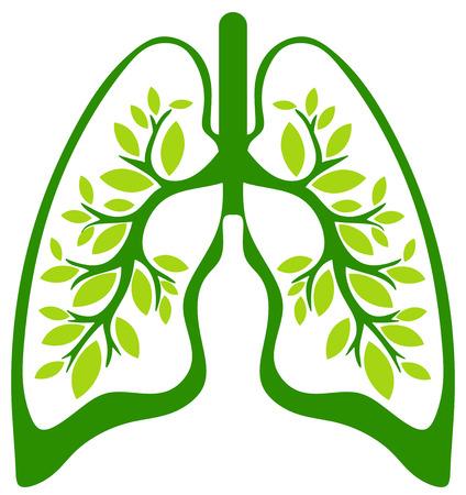 atmung: die grüne Lunge Lizenzfreie Bilder