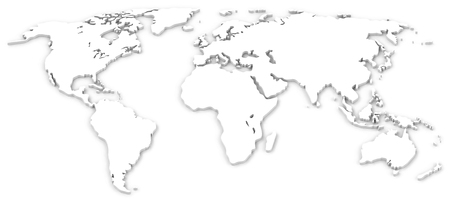 the white world map