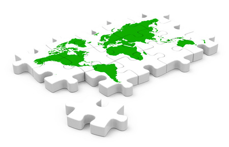 the world jigsaw Stock Photo