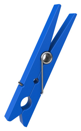 the blue clothespin Stock Photo