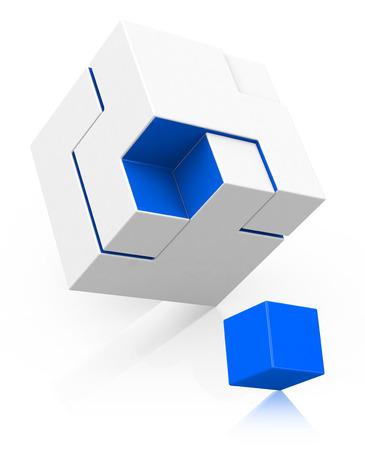 the cube concept Фото со стока