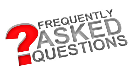 FAQ with red question mark  photo