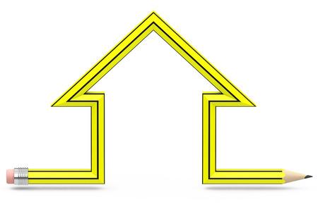 the house pencil Фото со стока