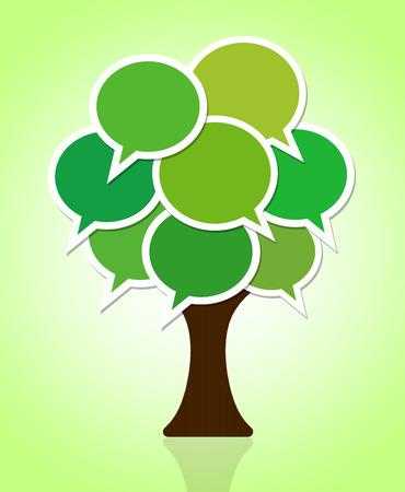 the green tree Фото со стока