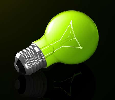 the green light bulb photo