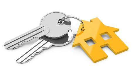 the house keys Foto de archivo