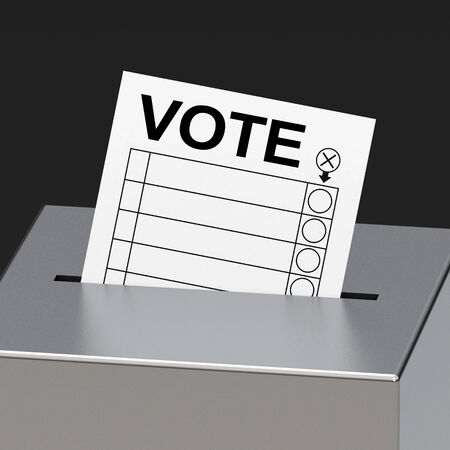nomination: the voting box Stock Photo