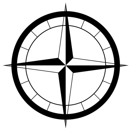 compass rose: the compass rose Stock Photo