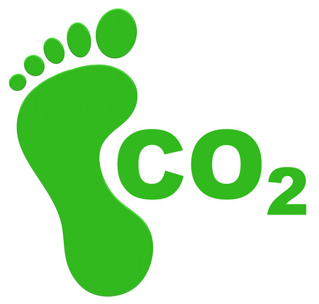 carbon footprint: the ecological footprint Stock Photo
