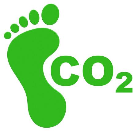 footprint: the ecological footprint Stock Photo