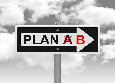plan b Foto de archivo