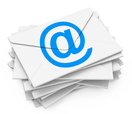 the emails Stockfoto