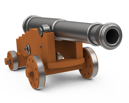 firepower: the cannon Stock Photo