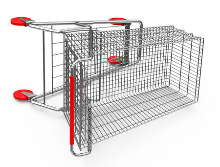 shopping cart on the ground Фото со стока