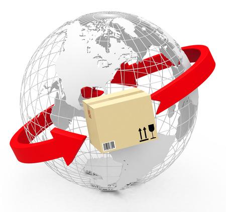 Globale Handels Standard-Bild - 28570408