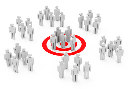the target group Stock Photo