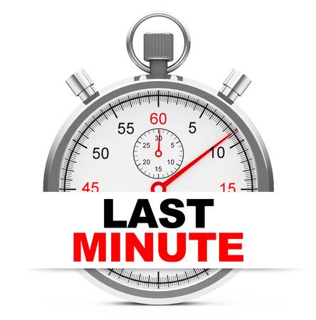 dernière minute Banque d'images