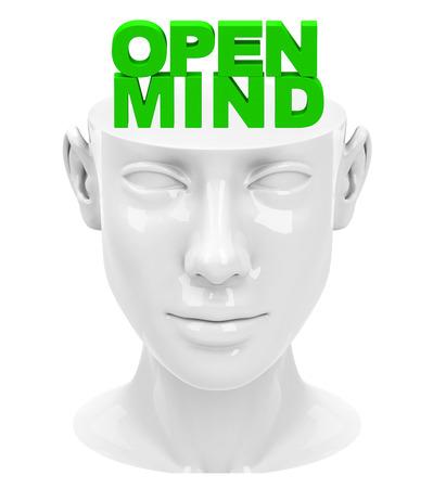 Open mind Standard-Bild