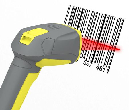 barcode reader Stock Photo