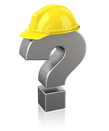 construction safety: safety questions Stock Photo