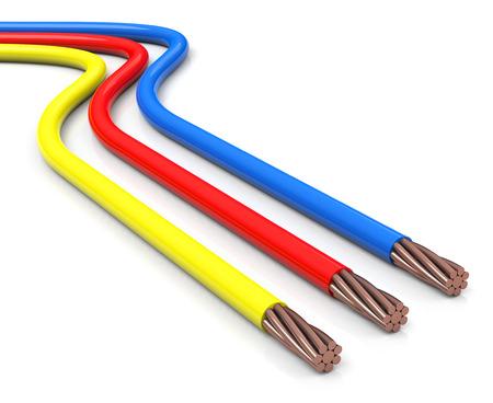 Câbles électriques Banque d'images - 29877593
