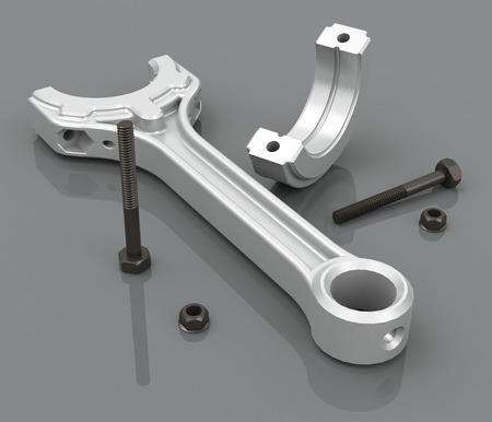 piston rod: the piston rod Stock Photo