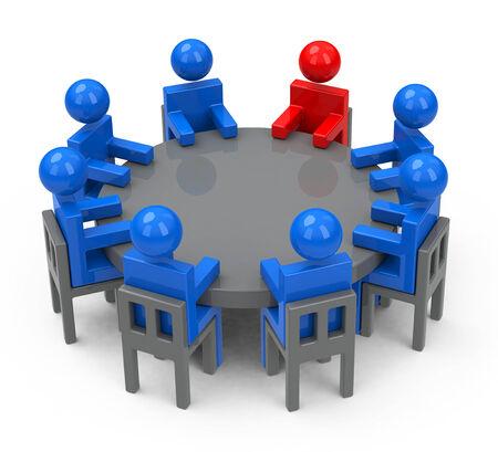 the meeting Фото со стока