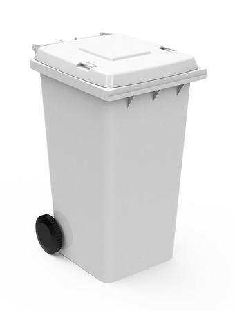 Recycling Mülleimer zwei mülltonnen und recycling mülleimer lizenzfreie fotos bilder