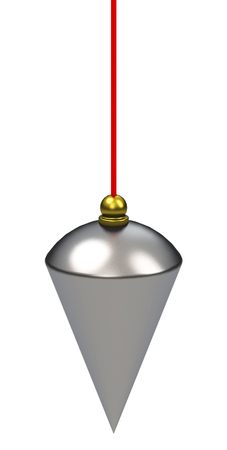 perpendicular: the plumb bob Stock Photo