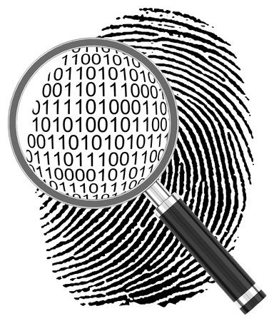 the digital fingerprint Stockfoto