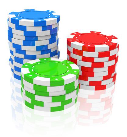 the poker chips Фото со стока