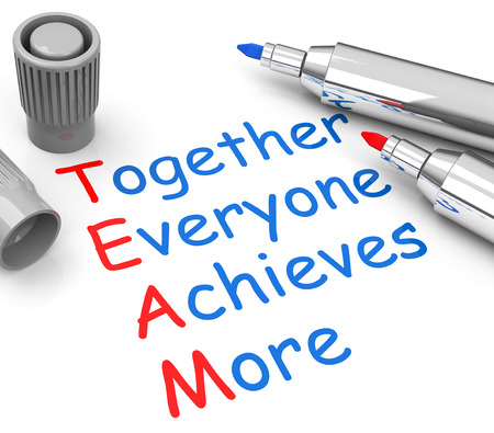 achieves: together everyone achieves more Stock Photo