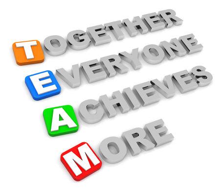 together everyone achieves more Фото со стока