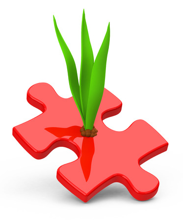 replant: growth concept Stock Photo
