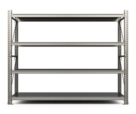 the metal shelf Stockfoto