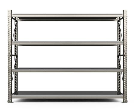the metal shelf Banque d'images