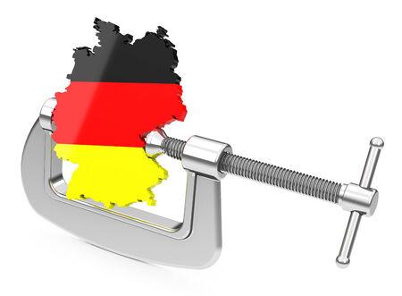 German economy under pressure Banco de Imagens