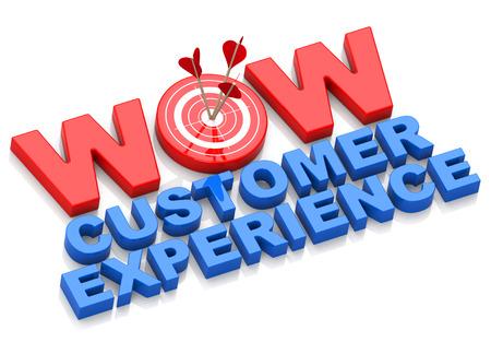 kunden: wow Kundenerfahrung Lizenzfreie Bilder