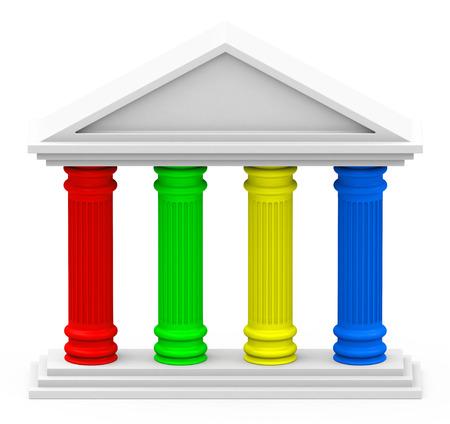 Das Vier-Säulen-Strategie Standard-Bild - 32991782