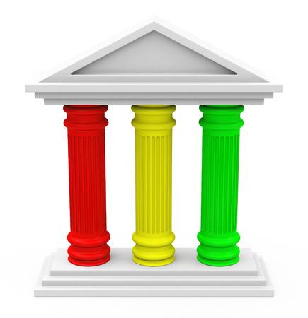 Das Drei-Säulen-Strategie Standard-Bild - 32991915
