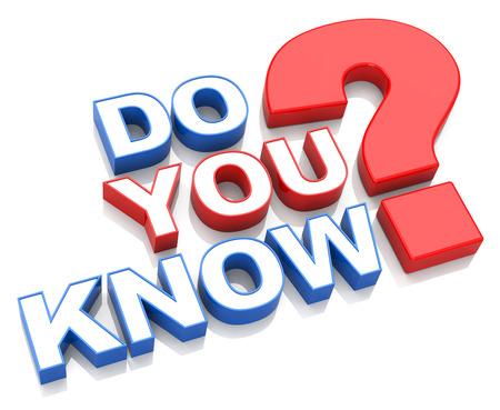 do you know? Stockfoto