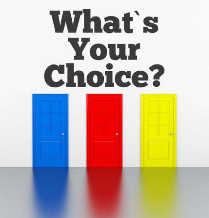 What is your choice? Фото со стока