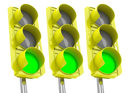 the green traffic lights