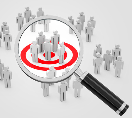 the target group Stockfoto