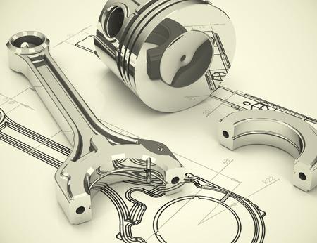 dibujo tecnico: Ingenier�a Foto de archivo