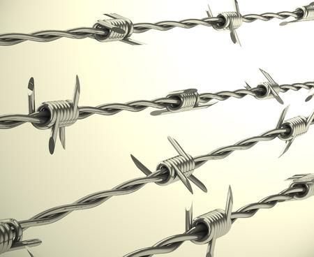the barbwire Фото со стока